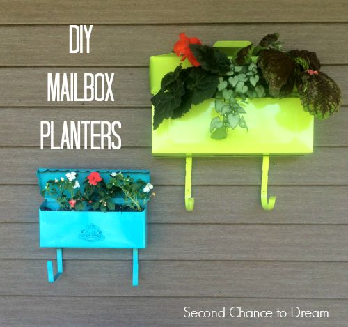 Fill brightly painted mailboxes with shade-loving plants.
