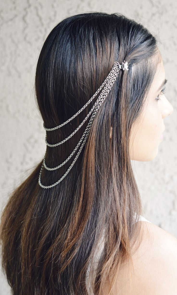hair clip and chain... love the cascade the multi-stand chain creates.