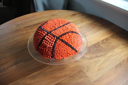 Image Of A Basketball Cake