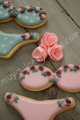 Lingerie Cookies @Megan Ward Ward Campbell and @Lauren Davison Davison Crane who wants to make these? :)
