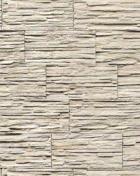 Steen behang EDEM 1003-33 glasvezel look steenoptiek structuur vinylbehang met reliëfstructuur licht beige wit grijs