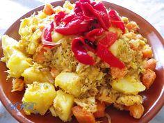 Bacalao con papas estilo panameño; Panamanian style Cod with potatoes