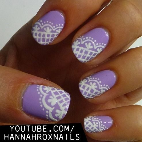 Lacey+Lilac+Nail+Art - Best 25+ Lilac Nails Ideas On Pinterest Summer Gel Nails, Spring
