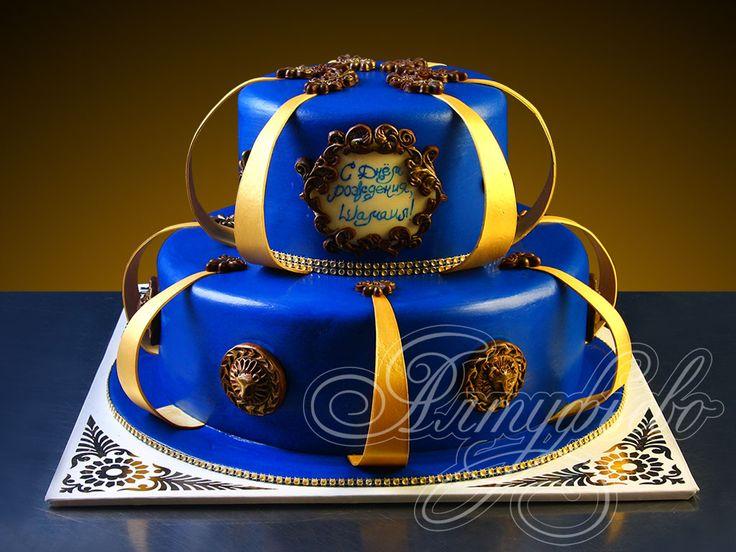 Подарочный торт королевский синий № 907