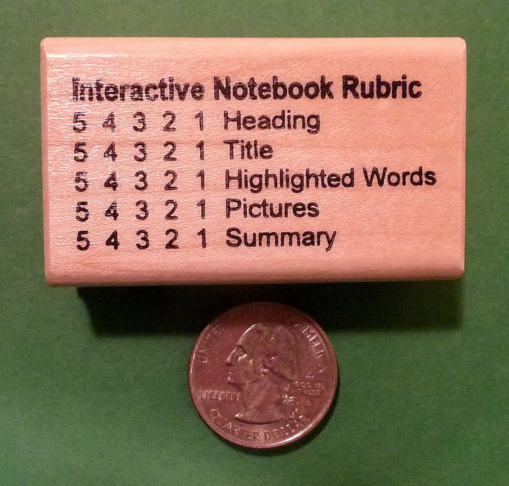 Interactive Notebook Rubric 54321, Teacher's Wood Mounted Rubber Stamp #TheStampCrafter #WoodMountedCollector