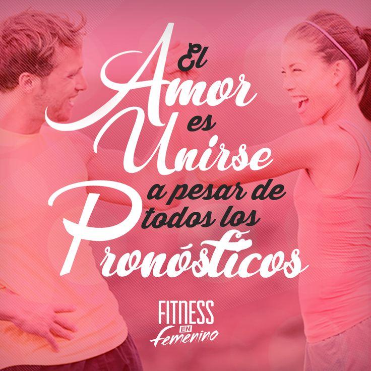 El amor es unirse a pesar de todos los pronósticos. Fitness en femenino.