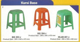 Selatan Jaya distributor barang plastik Surabaya: Katalog gambar kursi baso plastik merk Napolly kod...