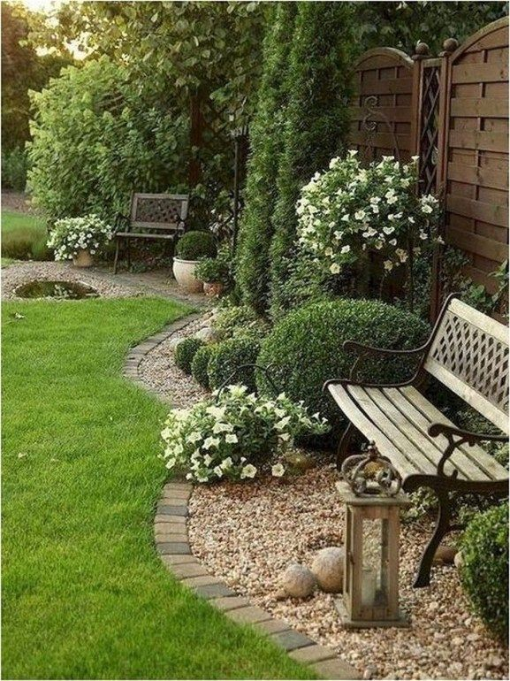 Süßer Garten hinter dem Haus ideas33 #garden #background # ideas33 – Rachel