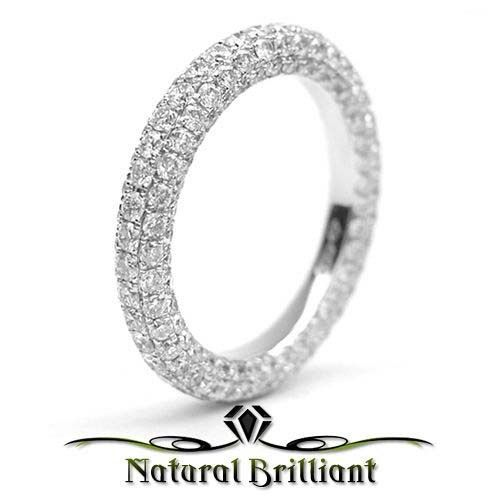 41 CT DIAMOND MICRO PAVE ETERNITY BAND RING, 18K WHITE GOLD, R3867