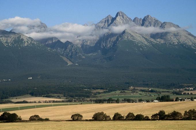 The High Tatra mountains, bordering Slovakia and Poland.