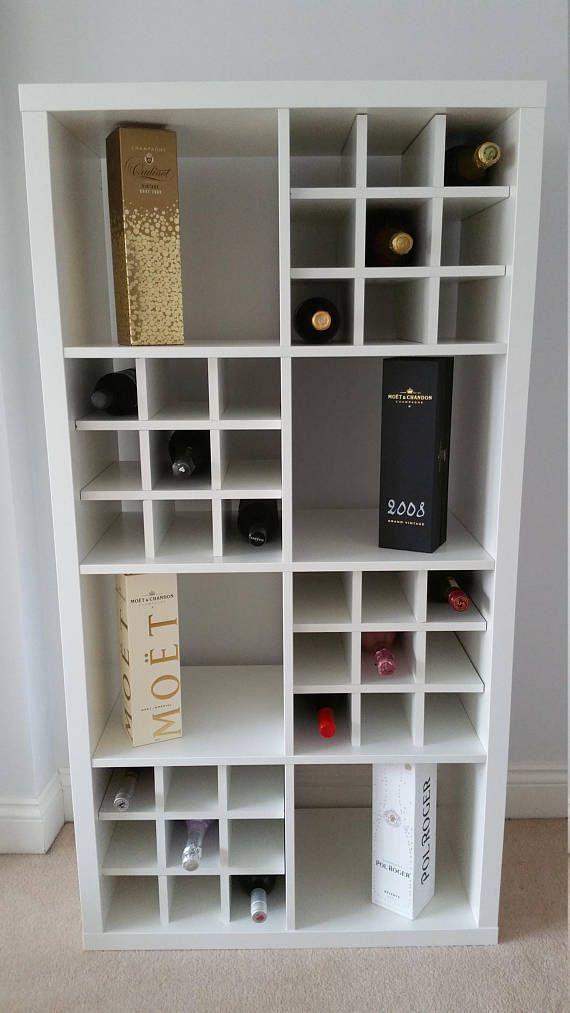 Wine Rack Insert For Ikea Kallax / Expedit Storage Unit