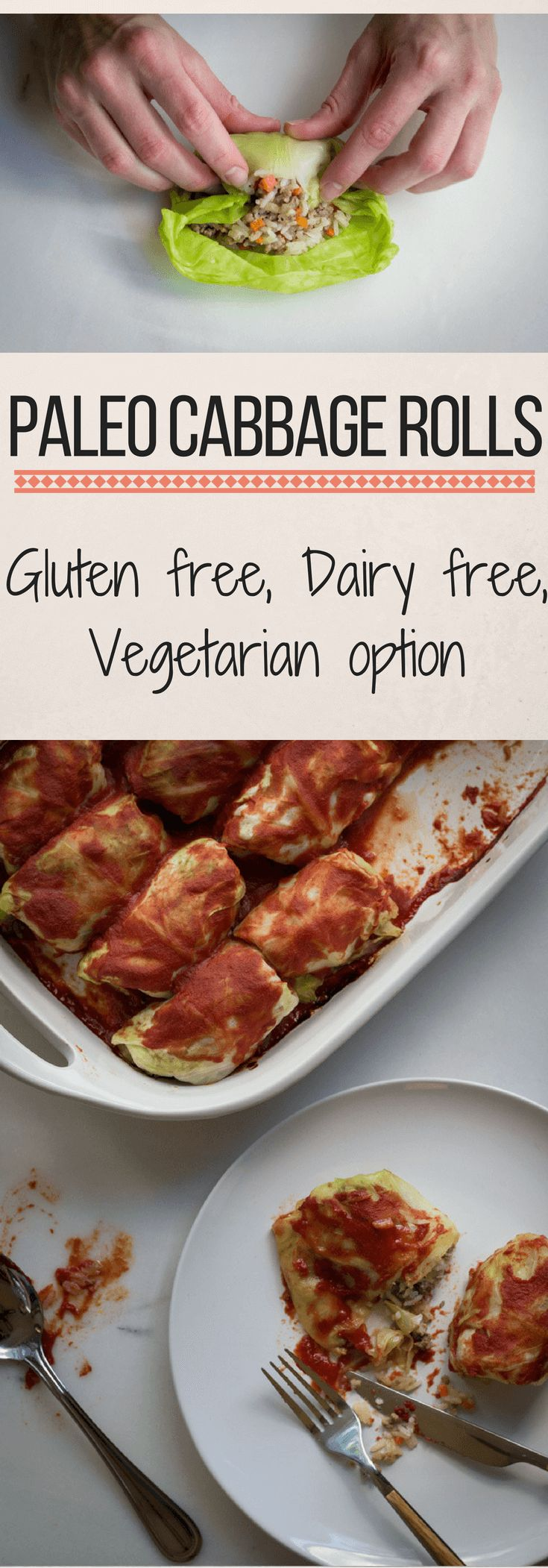 Paleo recipes / gluten free recipes / grain free recipes / dairy free recipes / family recipe / make ahead / comfort food / cabbage rolls