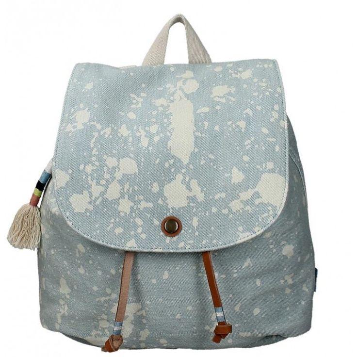 john-andy.com   Toms Pale Blue Splatter Deni Backpack 10010064