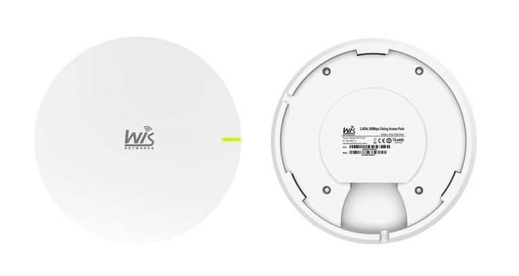 WIS-CM2300L - 2.4GHz Wi-Fi Coverage - 300Mbps Indoor Access Point - Ceiling or Wall Mount - Ovios