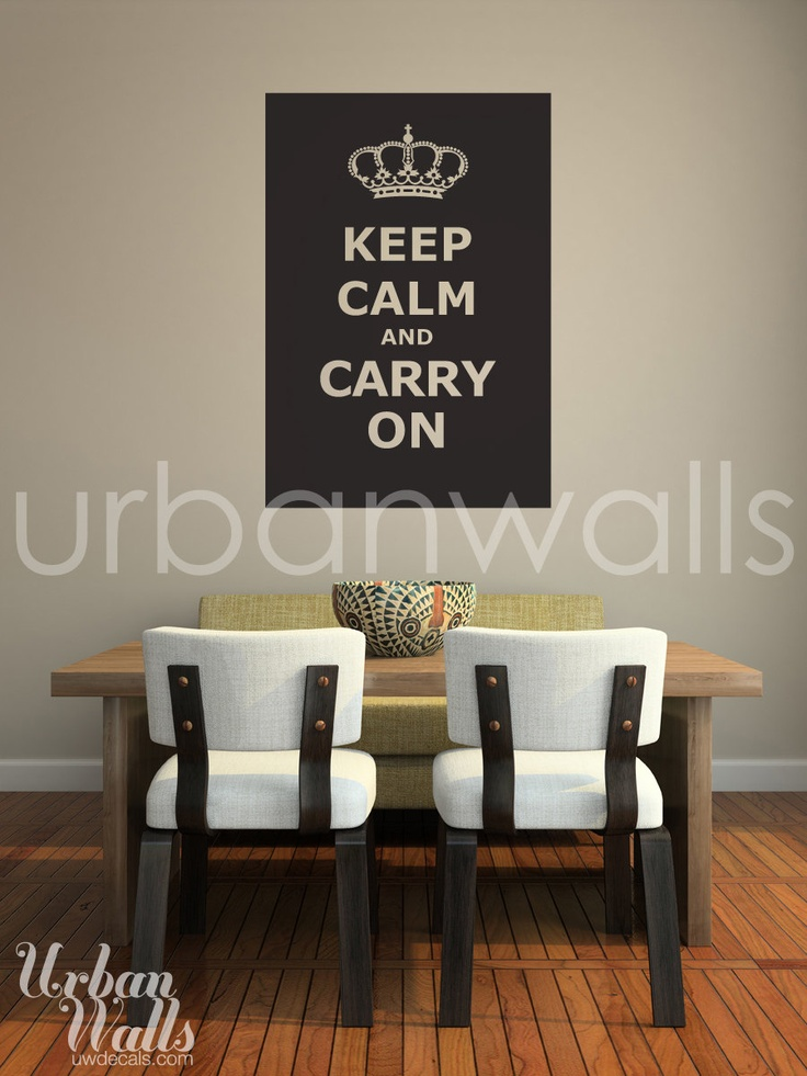 Vinyl Wall Sticker Decal Art - Keep Calm Carry On. - In RED of course :)