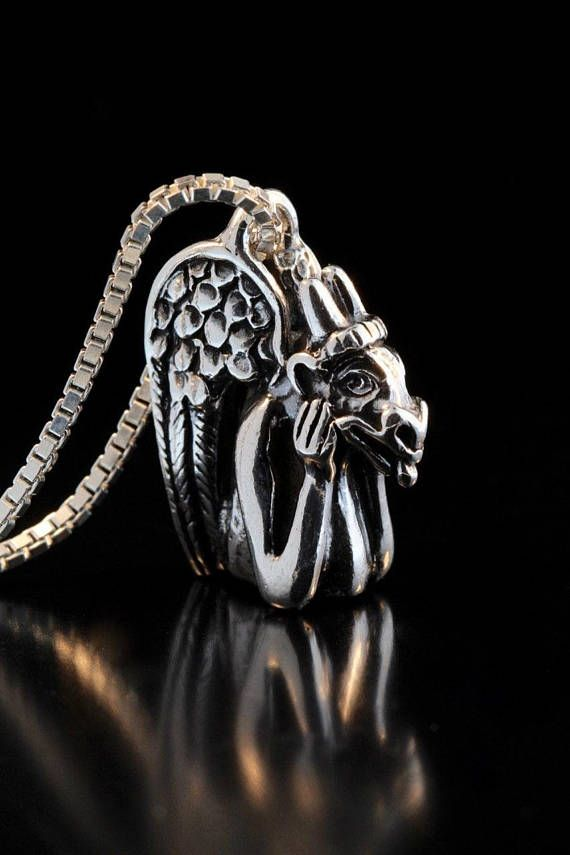 2081 best necklaces images on pinterest sterling silver animal marty was inspired to create this gargoyle pendant by the gargoyles that sit atop notre dame paris the piece is cast in solid sterling silver aloadofball Gallery