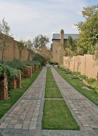 Belægning, belægningstegl, tegl, kliker, terrasse, Ziegel, bricks.    Entrance driveway