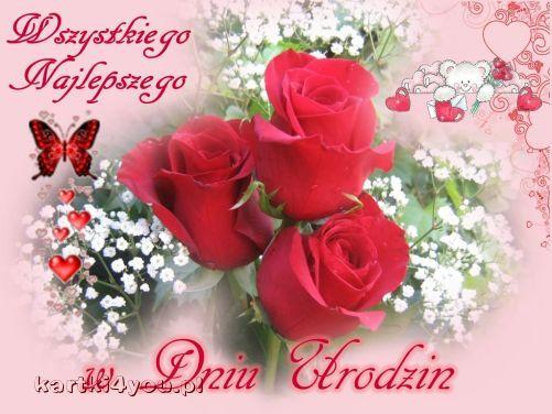 Urodzinowe róże i najlepsze życzenia dla Ciebie!