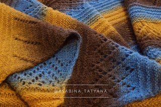 "Платок ручной вязки ""Royal"", выполнен спицами из 100% эстонской шерсти ""Кауни"". Мастер - @asabina_tatyana"