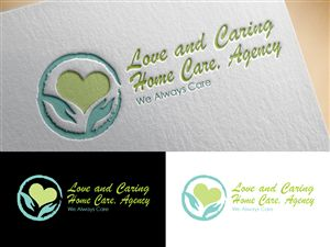 LOVE AND CARING HOME CARE,AGENCY Professional, Elegant Logo Design by artplane