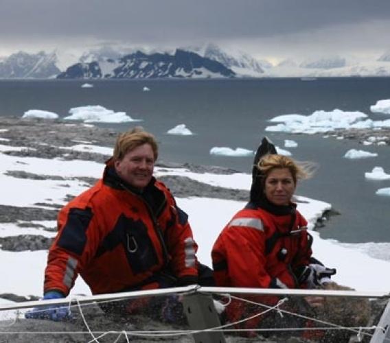Koninklijkpaar naar Antarctica