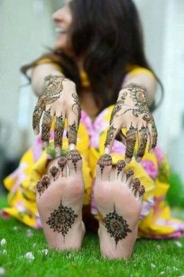 Mehndi Designs Arabic Style 2014 on Hands and Foot