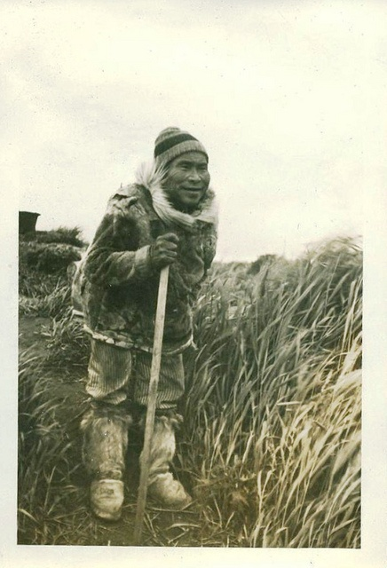 M. S. Stranger - Alaska Sea Scout Expedition of 1937-Eskimo man with walking stick by K38 Rescue, via Flickr