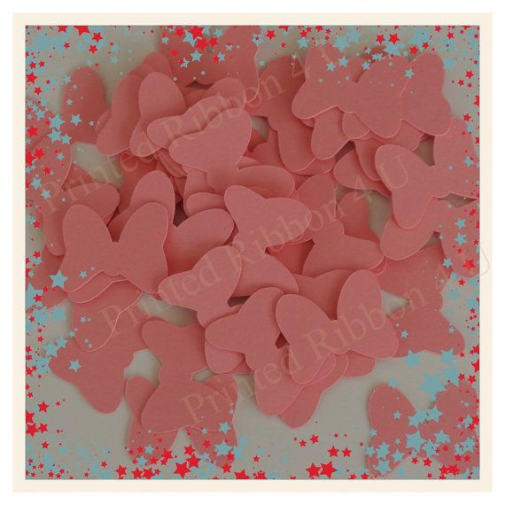 50 Minnie Mouse bow 1 inch die cuts in my Etsy store, please stop by :)