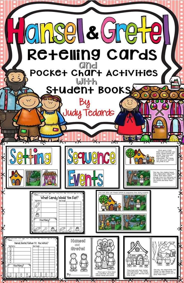 Hansel And Gretel Retelling Cards And Pocket Chart Activities Pocket Chart Activities Worksheets For Kids Graphing Activities