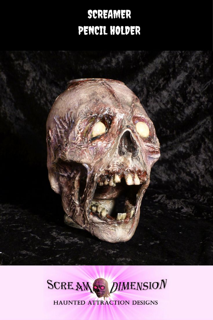 A creepy way to organize your desk or decorate the home.