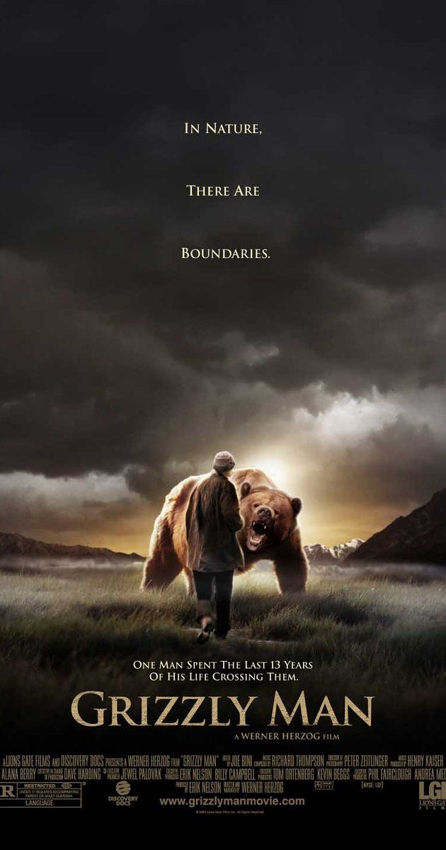 Directed by Werner Herzog.  With Timothy Treadwell, Amie Huguenard, Werner Herzog, Carol Dexter. A devastating and heartrending take on grizzly bear activists Timothy Treadwell and Amie Huguenard, who were killed in October of 2003 while living among grizzlies in Alaska.