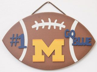 Michigan Football signs Michigan Football kids room sign teen room sign man cave wall decor sportsbar football gifts for guys football sign by UCsportsbyBill on Etsy
