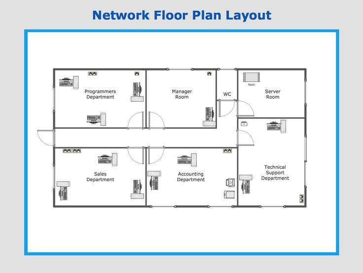 Network Floor Plan Layout Conceptdraw Ideas Pinterest Galley Kitchen Design Floor Plans