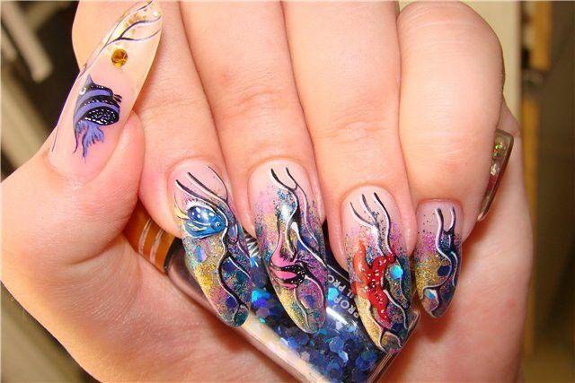 Ногти. Рисунок в морском стиле