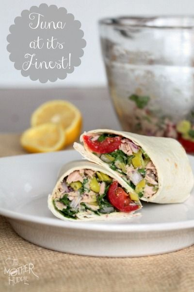 This is a very simple dinner, perfect for a hot summer night, when you can't even bring yourself to fire up the grill. The Bomb Tuna Wrap!