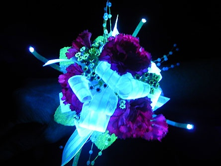 Add some glow to your prom corsage this year!!