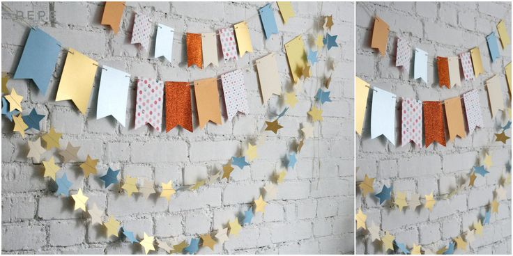 Paper garland, birthday session garland, photo props, hand made, birthday session photo props