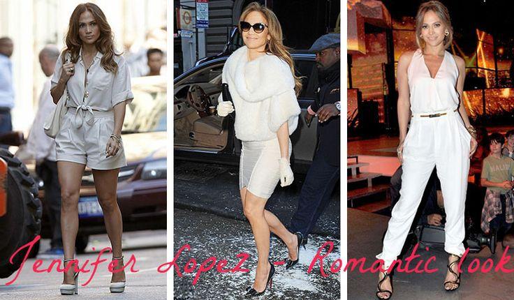Jennifer Lopez - outfits for Romantic (Kibbe). Typ urody Romantic – seksbomba.