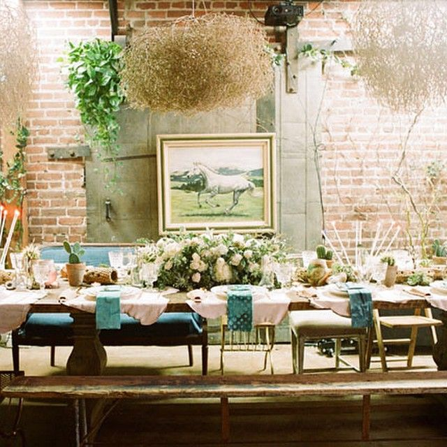 Dinner Party Venue, Bohemian Wedding