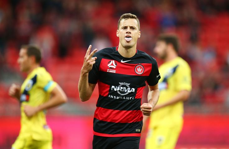 HAL.2 Sat. 14.10.17 Spotless Stadium WSW (1) 2 CCM (1) 2 Oriol Riera celebrates his equalising goal in the 39th min. Bonevacia scored a second equaliser in the 69th min. 11,650.