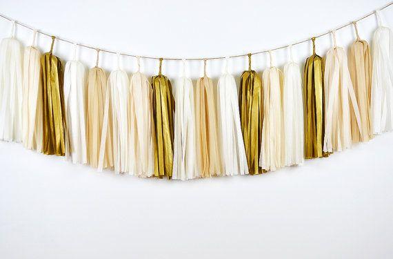 Gold Champagne Tassel Garland Gold Tassel Garland Gold by GenWoo