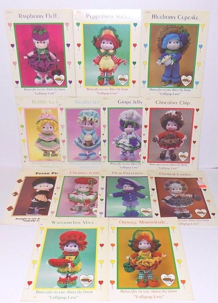 Lot of 13 Lollipop Lane Dumplin Designs Cupcake Corner Crochet Doll Patterns #LollipopLane