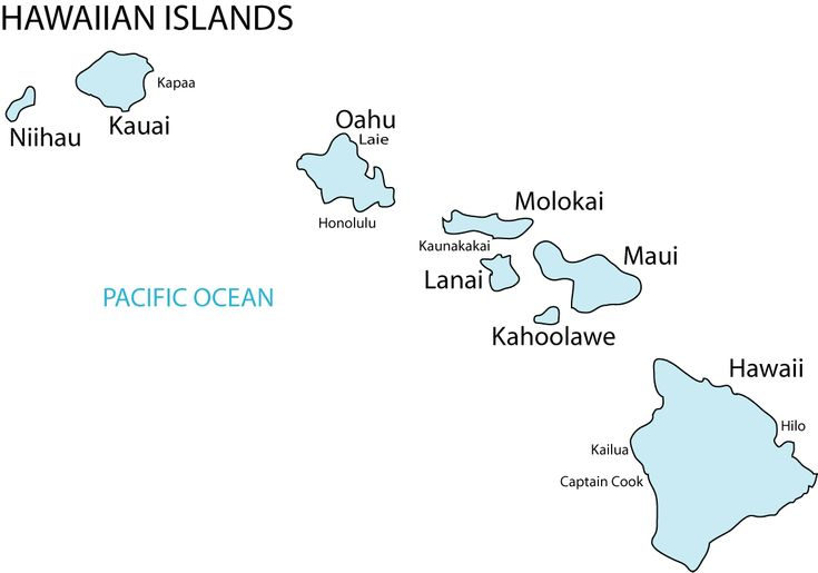 Hawaii Island Names Map - Find out where your Ancestors came from! - Display all your tree on your own Genealogy Website, check it out!