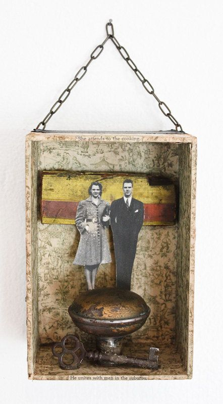 DIVERSIONS  Original Mixed Media Assemblage by RosemarieHughes, $100.00