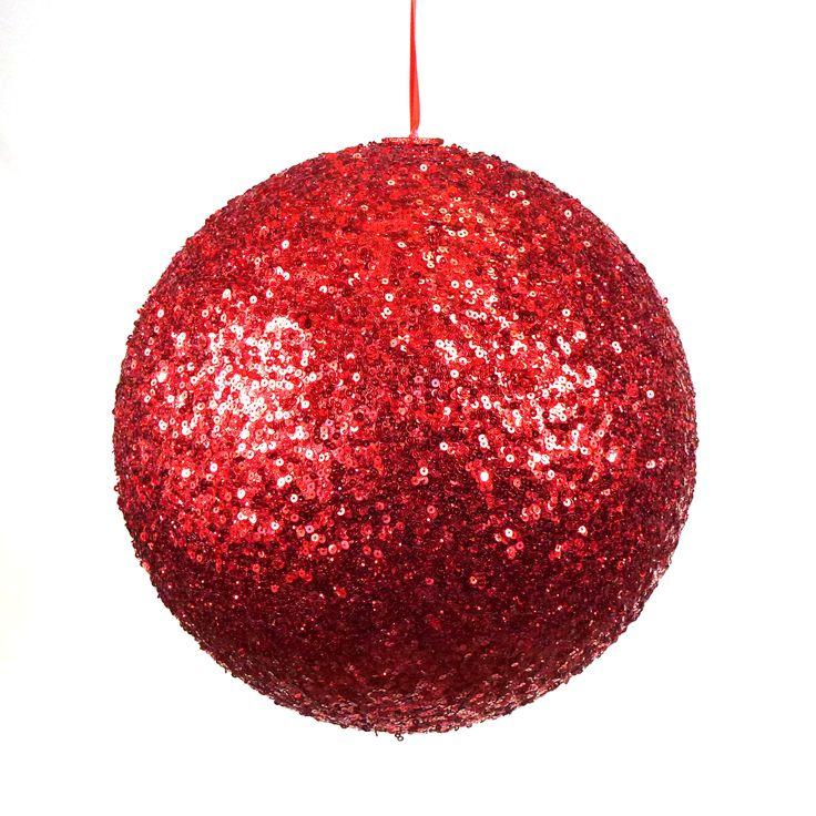Große #Weihnachtskugeln aus Kunststoff - gut für die Dekoration von Feiern, Wintergarten und anderen großen Räumen.