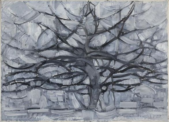 Piet Mondrian, 1911, Gray Tree (De grijze boom), oil on canvas, 79.7 x 109.1 cm, Gemeentemuseum Den Haag, Netherlands - Piet Mondrian - Wikipedia, the free encyclopedia