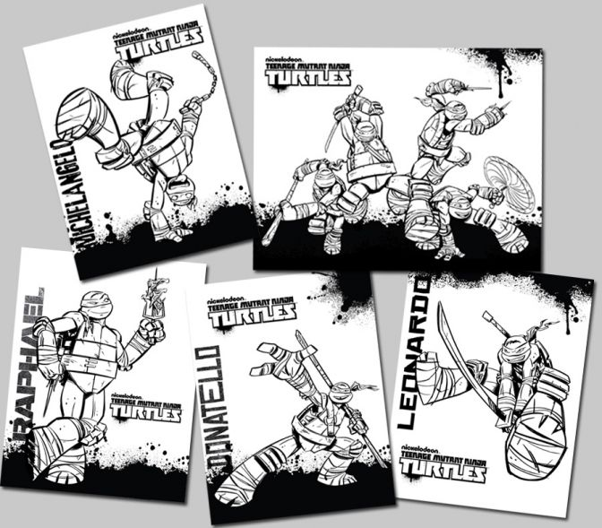 88 best Ninja Turtles Coloring Pages images on Pinterest  Teenage