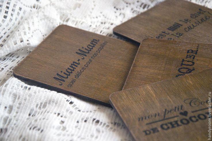 Купить Комплект подставок «Miam-miam» - коричневый, подставка под горячее, подставки под чашки