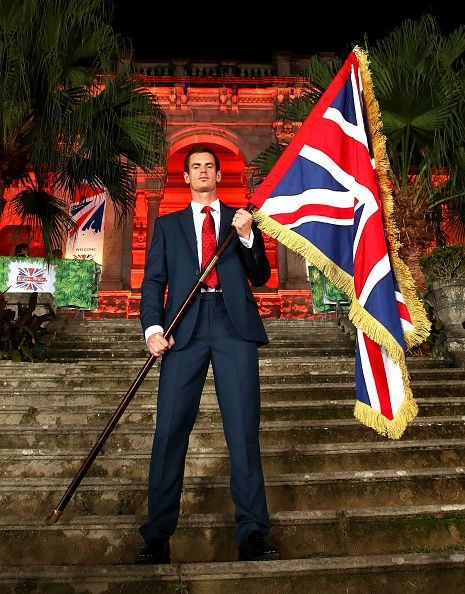 #RIO2016 Tennis player Andy Murray of Great Britain is announced as the flag bearer for Team GB at the British House Reception ahead of the Rio 2016 Olympic...