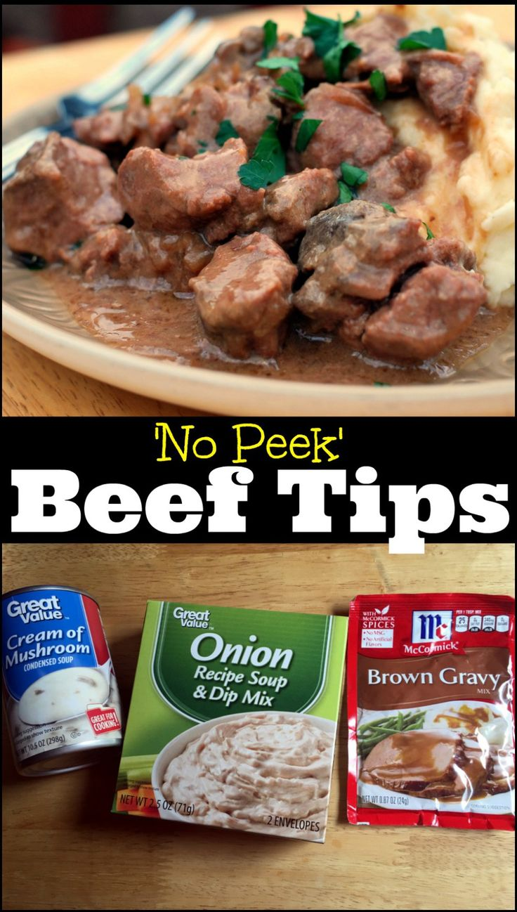 No Peek Beef Tips & Gravy   Aunt Bee's Recipes